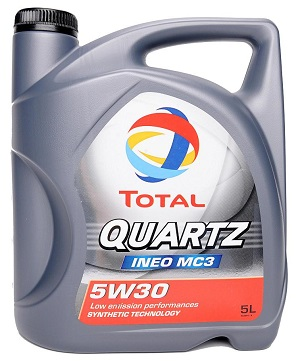 Total Quartz INEO MC3 5w30 Fully Synthetic Engine Oil 5 Litre